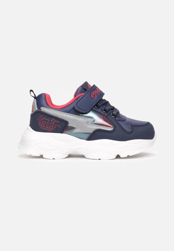 Niebiesko-Czerwone Buty Sportowe Halanaestra