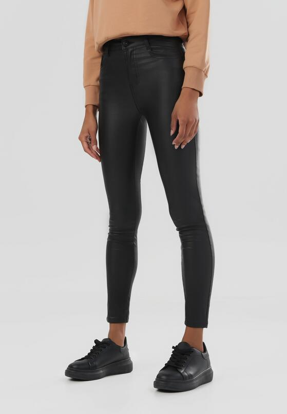 Czarne Spodnie Z Ekoskóry Dorlee