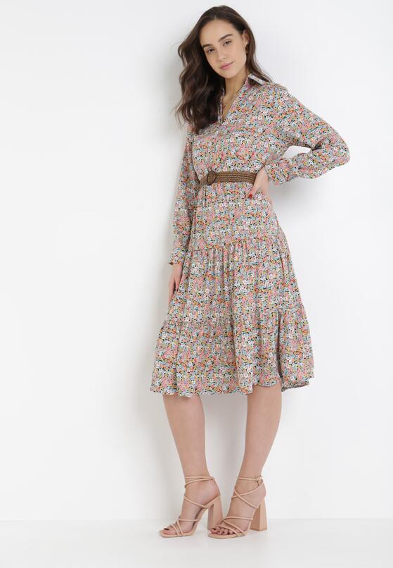 Miętowa Sukienka Celaeno