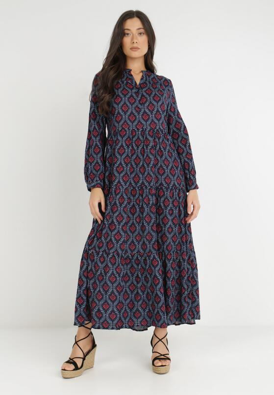 Granatowa Sukienka Philiasei