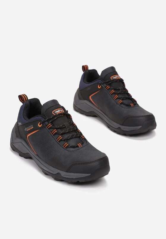 Granatowo-Pomarańczowe Buty Trekkingowe Ademedha