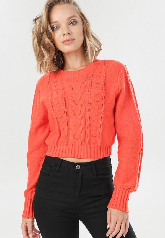 Pomarańczowy Sweter Cremia