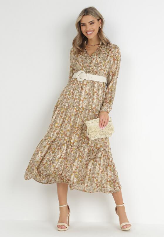 Beżowa Sukienka Shyvynia