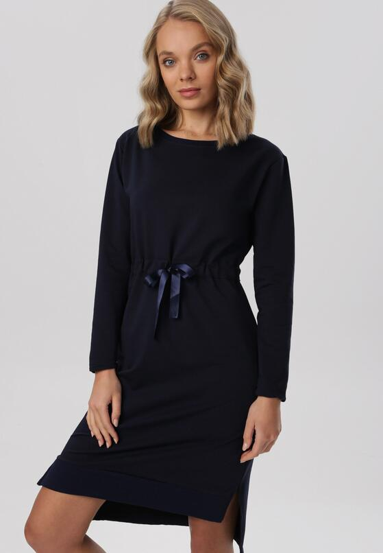 Granatowa Sukienka Vheslyn