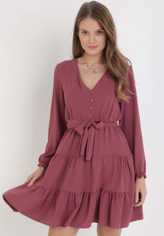 Ciemnoróżowa Sukienka Wysnell