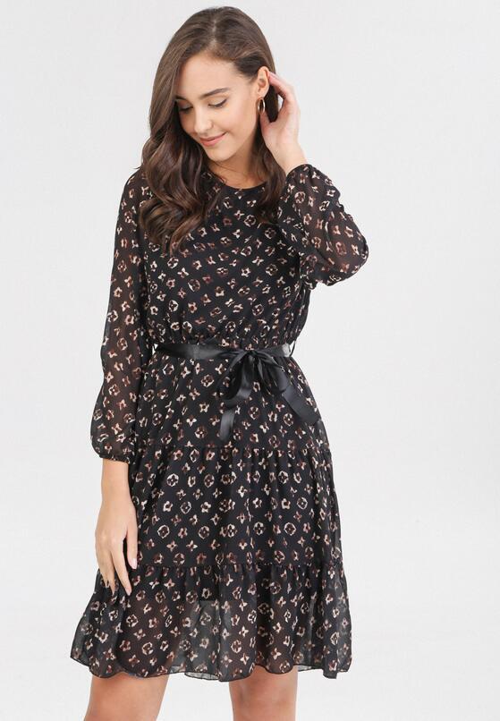Czarno-Beżowa Sukienka Ysertarish