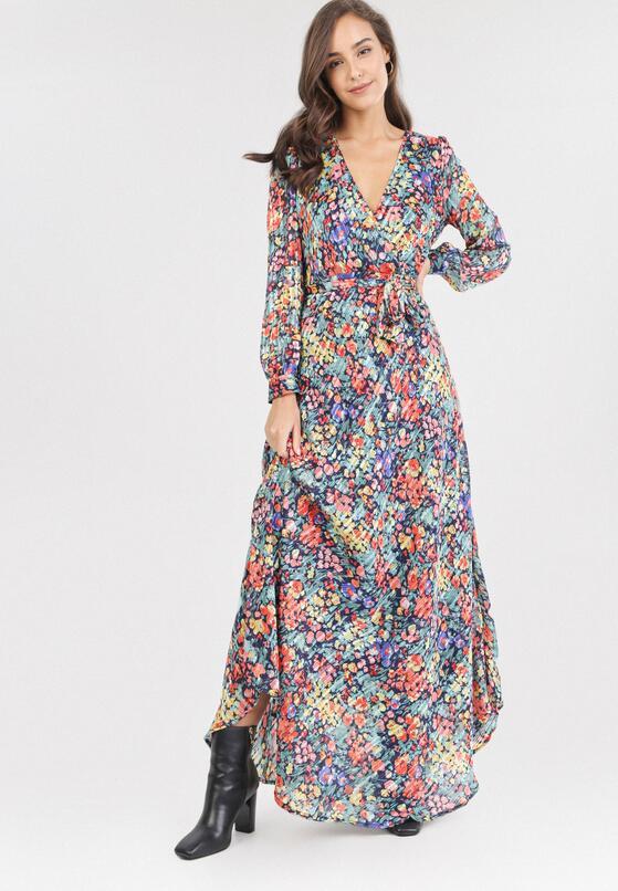 Granatowa Sukienka Tinryna