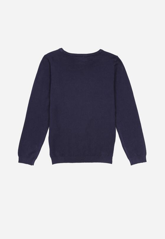 Granatowy Sweter Rhelaris