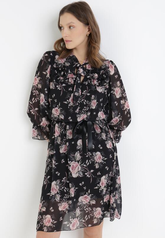 Czarno-Różowa Sukienka Iphisysha