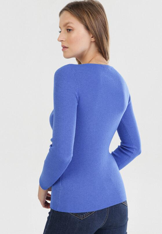 Granatowy Sweter Cahrless