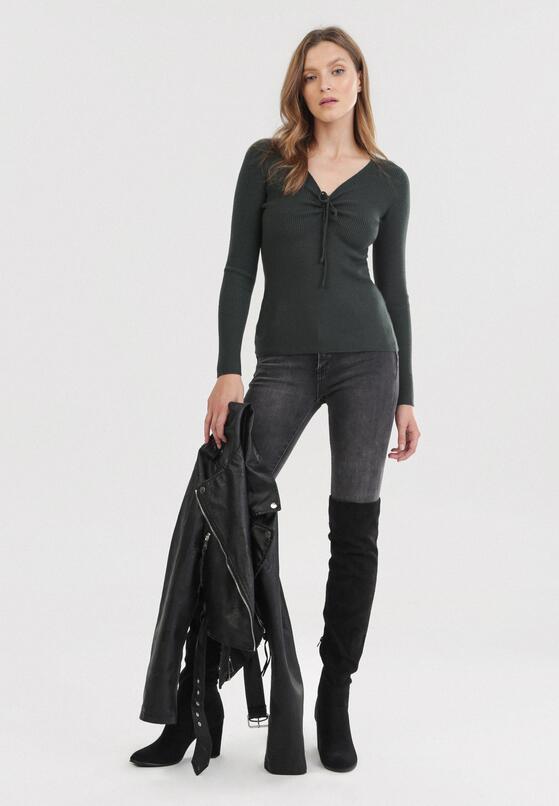 Ciemnozielony Sweter Cahrless