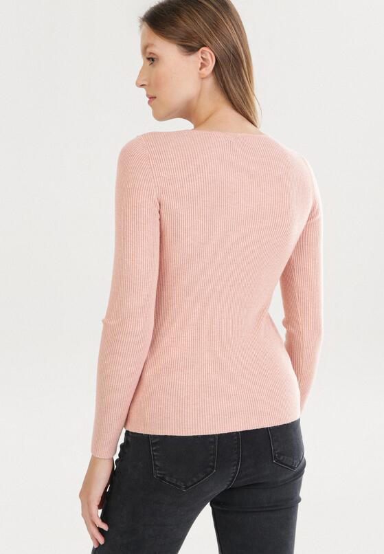 Różowy Sweter Cahrless