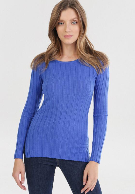 Granatowy Sweter Elineth