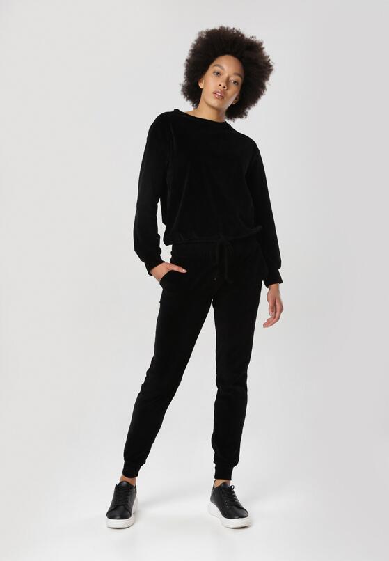 Czarny Komplet Dresowy Lilinaela