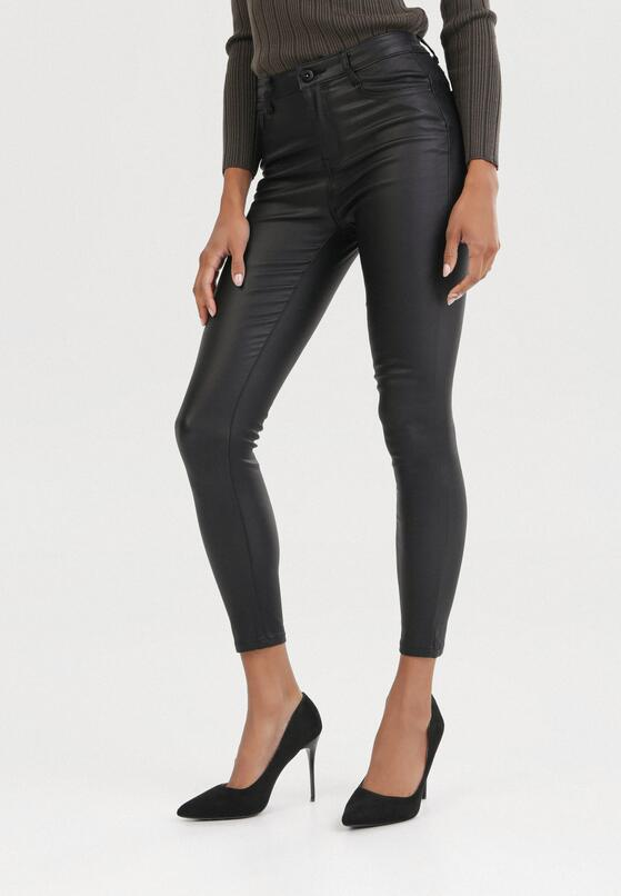 Czarne Spodnie Skinny Shariana