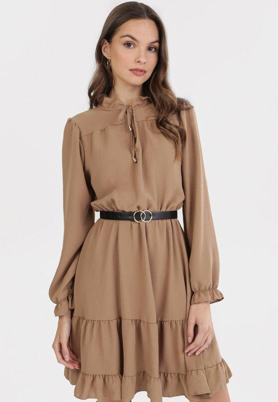 Beżowa Sukienka Kellisa