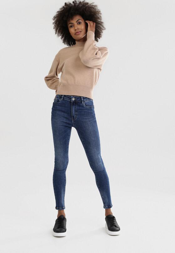 Niebieskie Jeansy Skinny Risnessa