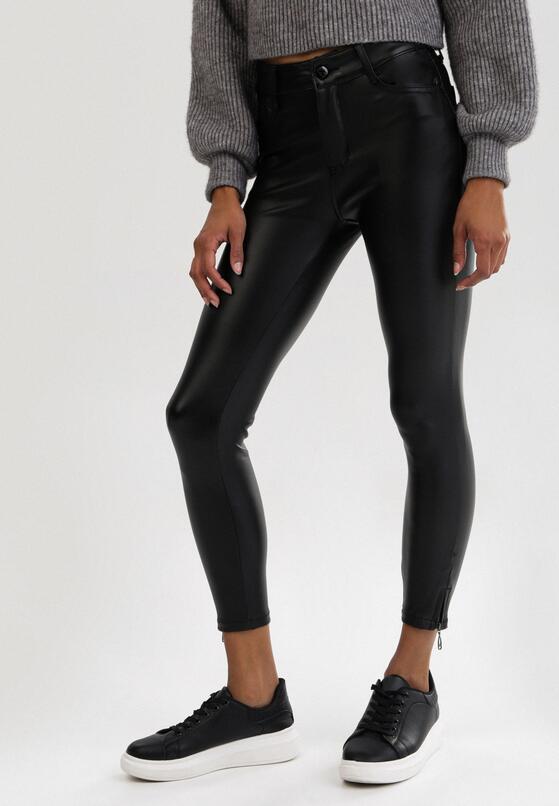 Czarne Spodnie Skinny Shyrynne