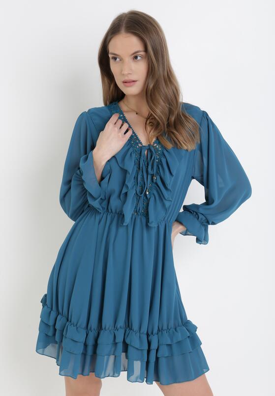 Niebieska Sukienka Catsea