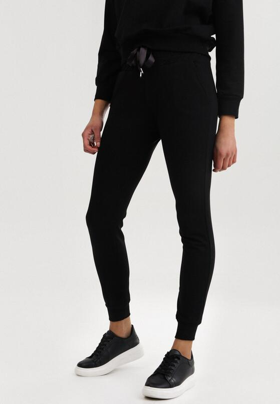 Czarne Spodnie Dresowe Driftbelle