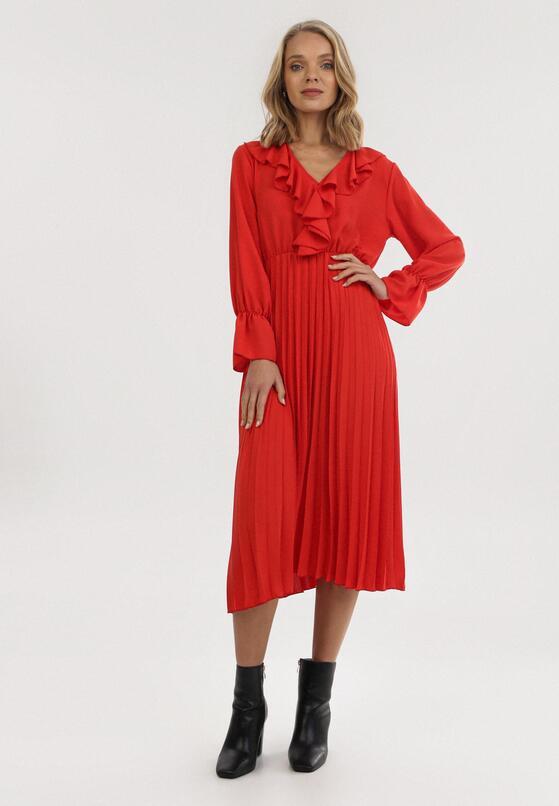 Czerwona Sukienka Arieslea