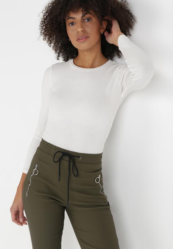 Ciemnozielone Spodnie Joggery Mezvia