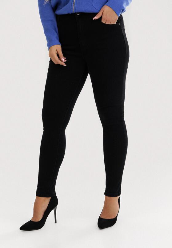 Czarne Spodnie Skinny Iphisvynia