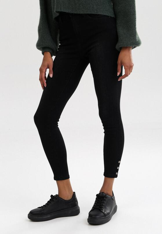 Czarne Jeansy Skinny Aezixis