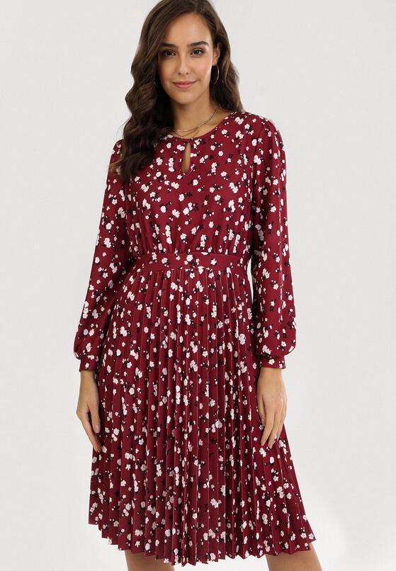 Bordowa Sukienka Lynnania