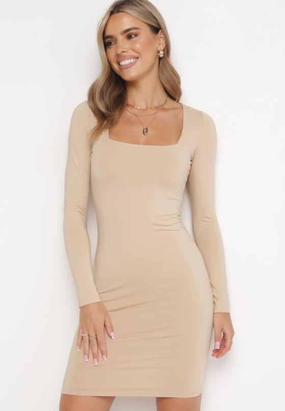 Beżowa Sukienka Ynisyra