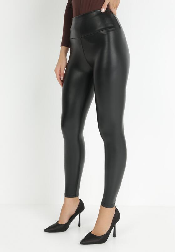 Czarne Spodnie Skinny Uhriana