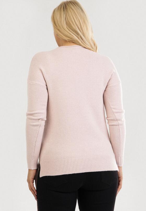 Jasnoróżowy Sweter Yreltarish