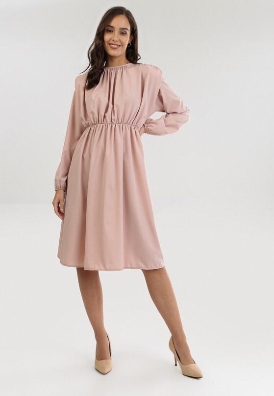 Ciemnoróżowa Sukienka Maphite