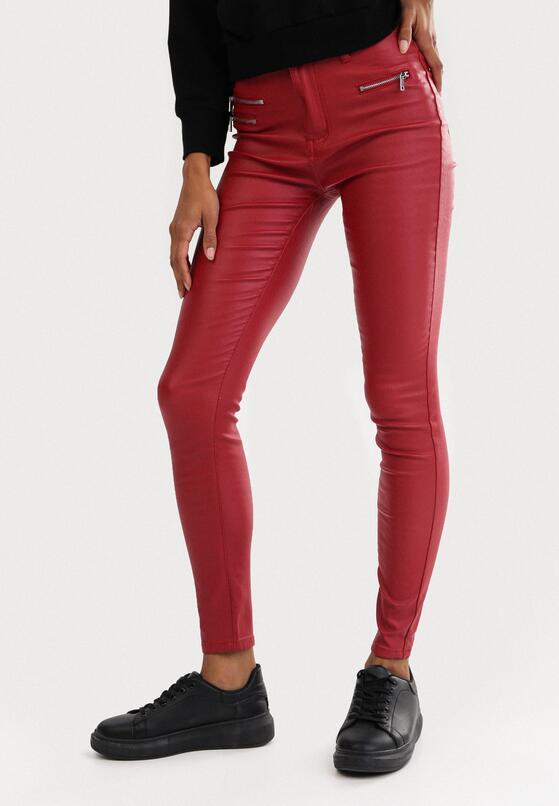 Czerwone Spodnie Skinny Klemene