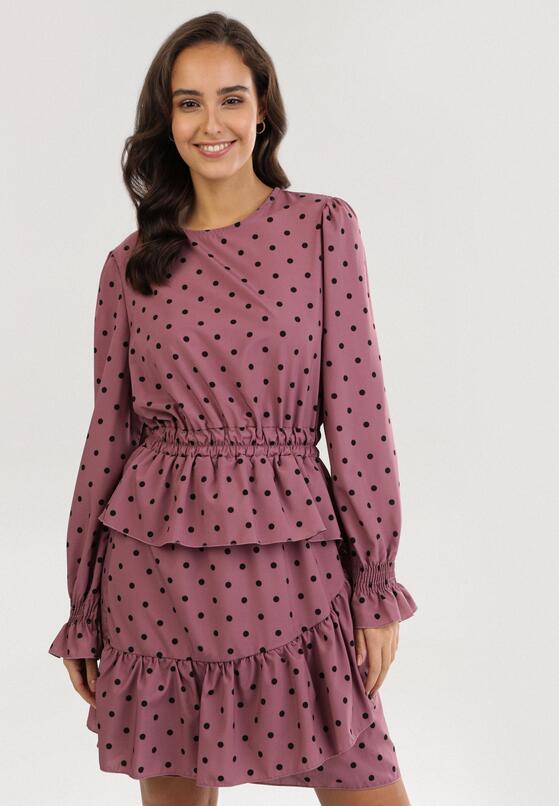 Różowa Sukienka Adomine