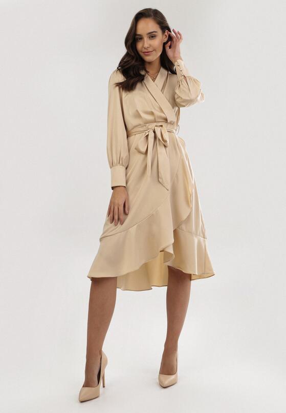 Jasnobeżowa Sukienka Phirriad