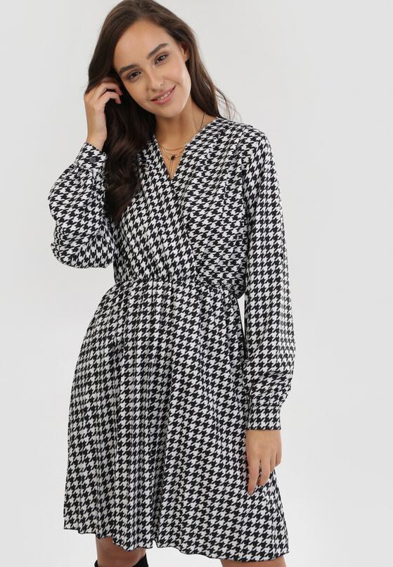Biało-Czarna Sukienka Dynoth