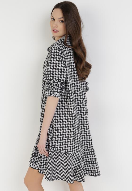 Białao-Czarna Sukienka Azeraris