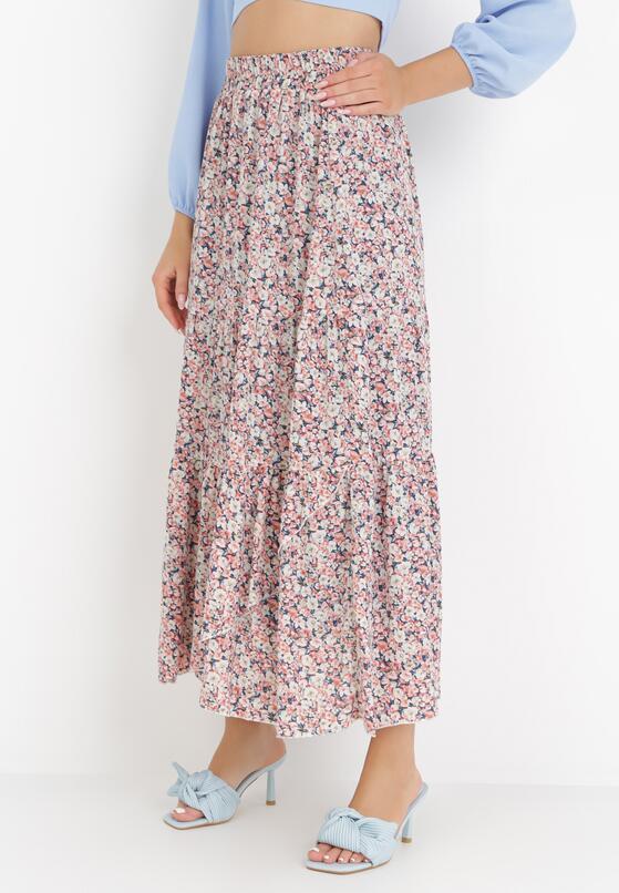 Granatowo-Różowa Spódnica Muddyfly