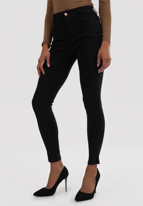 Czarne Spodnie Skinny Nightgazer