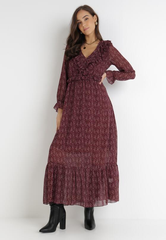 Bordowa Sukienka Ravenkeep