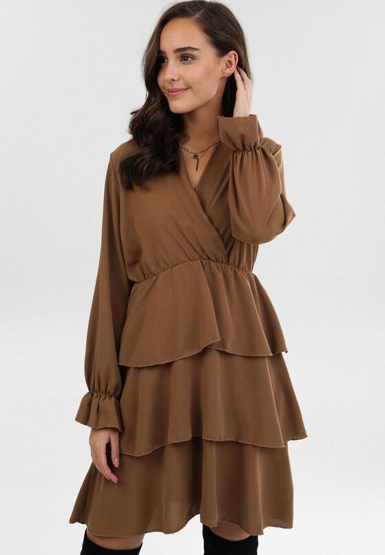 Ciemnobeżowa Sukienka Hawkchaser