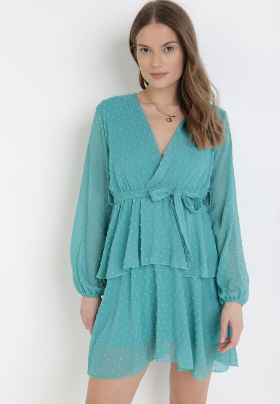 Miętowa Sukienka Sharpblaze