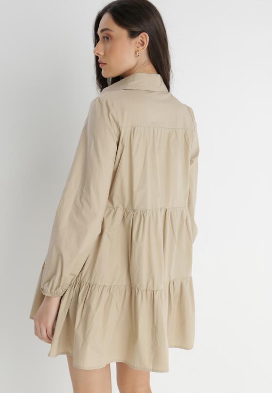 Beżowa Sukienka Hellgem