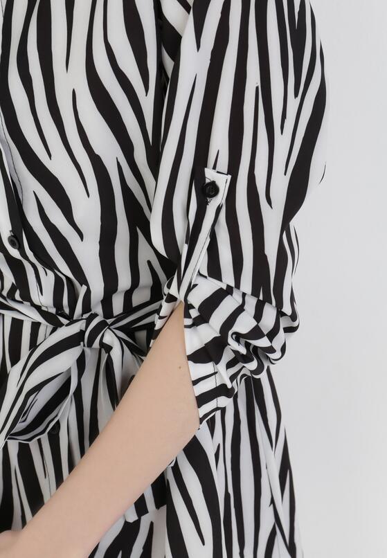 Biało-Czarna Sukienka Freebranch