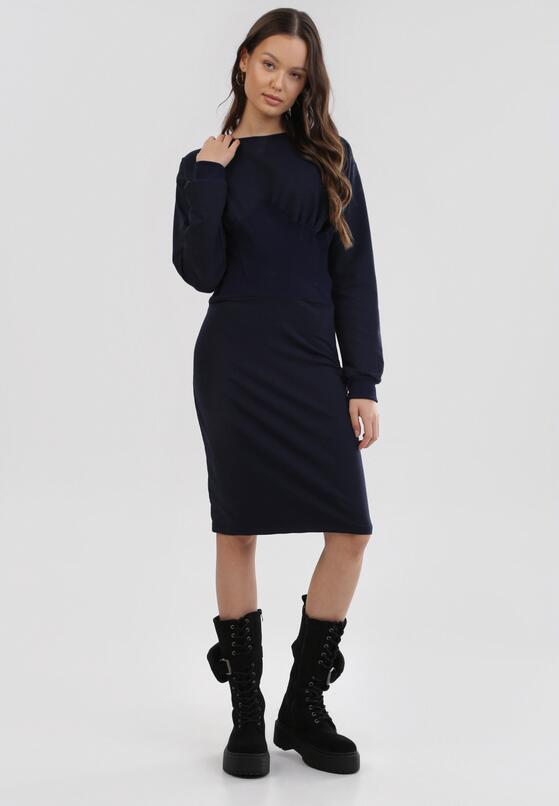 Granatowa Sukienka Quirieth