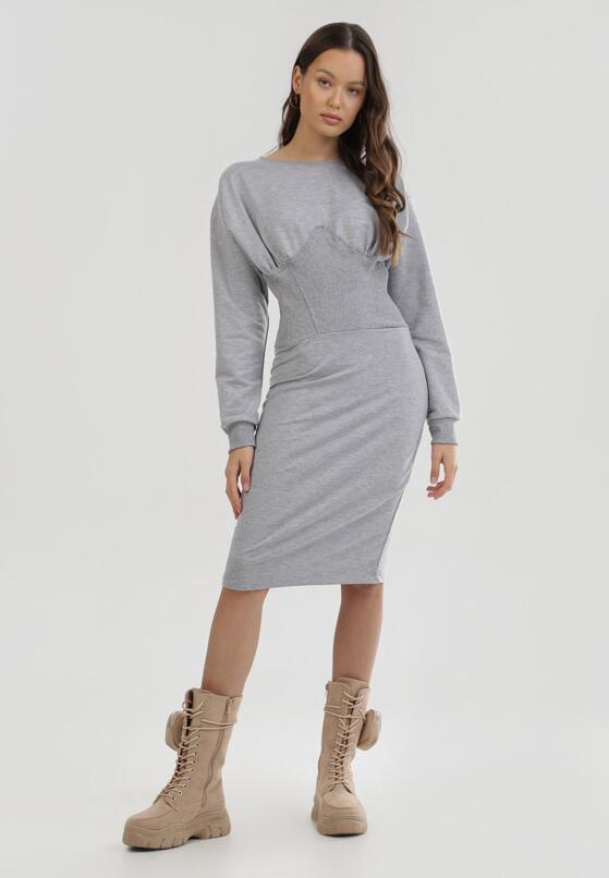 Szara Sukienka Quirieth