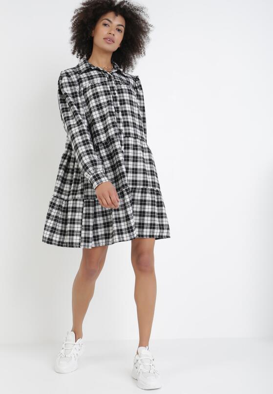 Czarno-Biała Sukienka Jingleflower