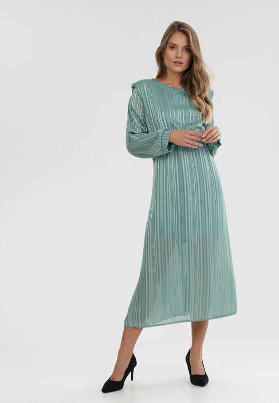Miętowa Sukienka Dimpleglade