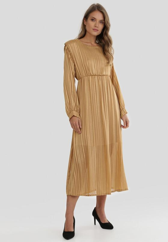 Beżowa Sukienka Dimpleglade